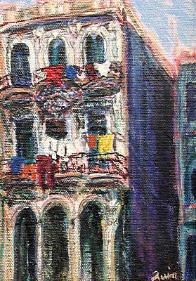 Painting - Cuba Edificios by Quin Sweetman