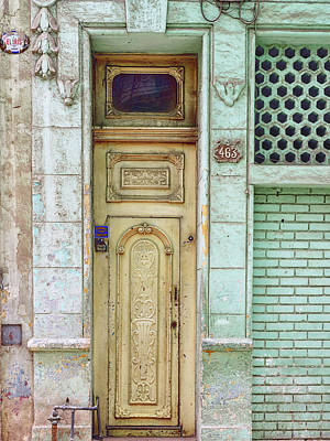 Photograph - Cuba - Green Door Image Art By Jo Ann Tomaselli by Jo Ann Tomaselli