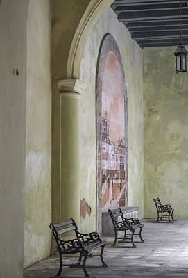 Photograph - Cuba - Green Hallway Image Art By Jo Ann Tomaselli by Jo Ann Tomaselli