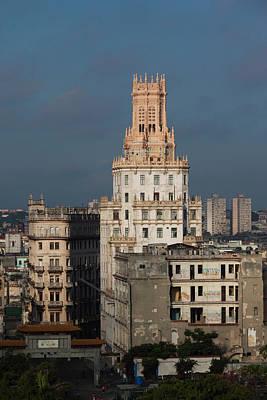 Cuba, Havana, Central Havana, Etecsa Print by Walter Bibikow
