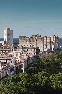 Prado Photograph - Cuba, Havana, Havana Vieja, Buildings by Walter Bibikow