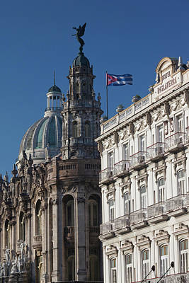 Cuba, Havana, Havana Vieja, Dome Print by Walter Bibikow