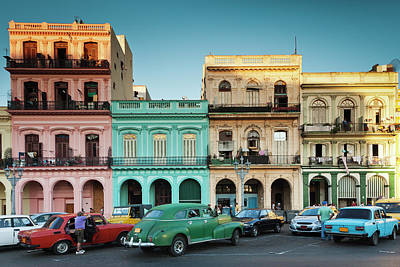 Architecture Photograph - Cuba, Havana, Havana Vieja, Outside T by Walter Bibikow