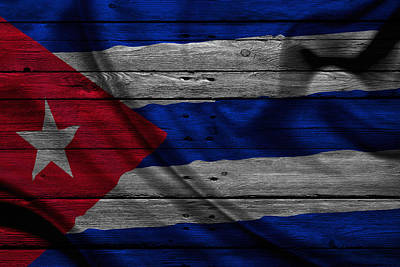 Flag Pole Photograph - Cuba by Joe Hamilton
