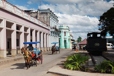 Greater Antilles Photograph - Cuba, Matanzas Province, Colon, Horse by Walter Bibikow
