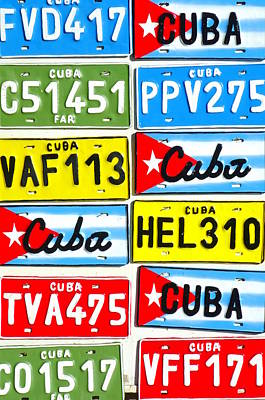 Photograph - Cuba Plates by Valentino Visentini