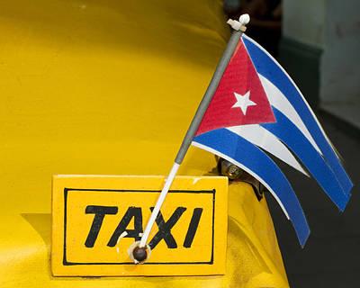 Cuba Taxi Art Print by Norman Pogson