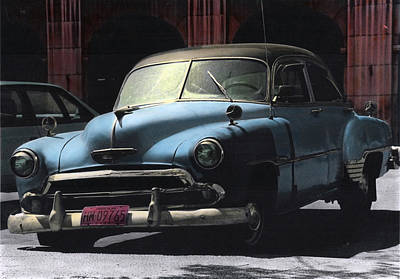 Photograph - Cuban Car - Blues by Ulf Sandstrom
