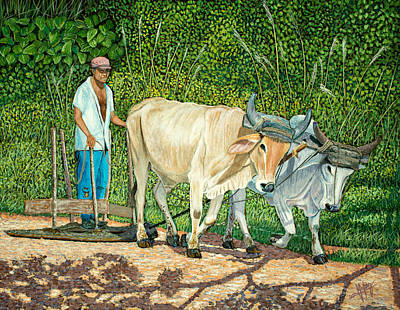 Campo Painting - Cuban Countryman by Manuel Lopez