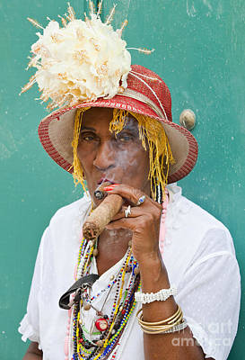 Photograph - Cuban Lady by Chris Dutton