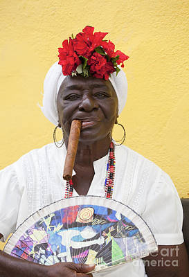 Photograph - Cuban Lady Two by Chris Dutton