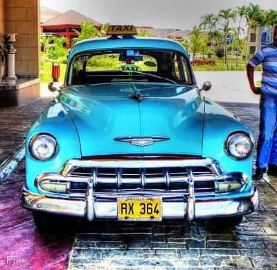 Cuban Taxi			 Art Print by Pennie  McCracken