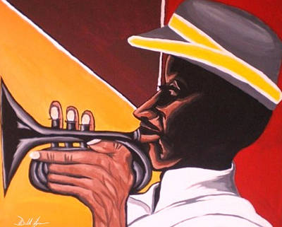On Cavas Painting - Cubanhorn by Donald Lyons