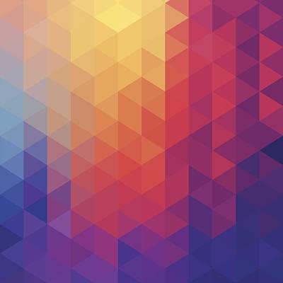 Cube Diamond Abstract Background Art Print by Mustafahacalaki