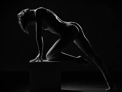 Naked Woman Photograph - Cube IIi by Luc Stalmans