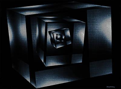 Reflections Digital Art - Cube In Cube by Ramon Martinez