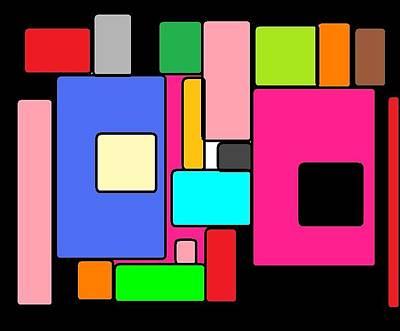 Cubes 67 Art Print