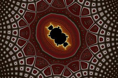 Cubic In Deformed Grid Art Print by Mark Eggleston