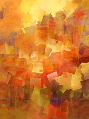 Cubic Lightbreak Art Print by Ann Croon