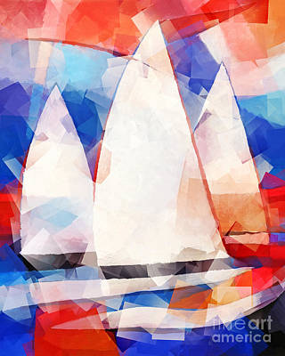 Sailing Painting - Cubic Sails by Lutz Baar
