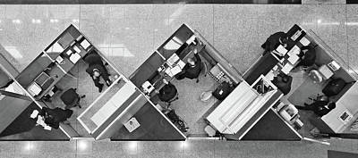 Finance Photograph - Cubicle Life by Vincent Kohar