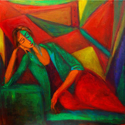 Painting - Cubism Contemplation  by Marina R Burch