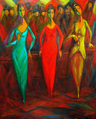 Painting - Cubism Dance II by Marina R Burch