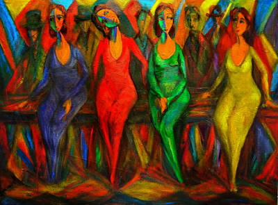 Painting - Cubism Dance  by Marina R Burch