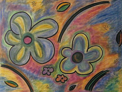 Cubism Flowers 2.3 Art Print by Lois Picasso