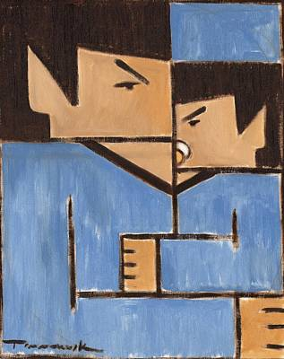 Painting - Cubism Spock Baby Spock Art Print by Tommervik