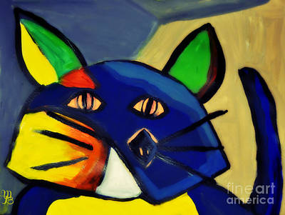 Cubist Inspired Cat  Art Print by Mindy Bench