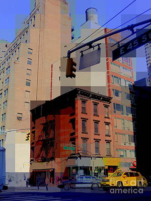 Photograph - City Corner No. 4 - New York City Street Scene by Miriam Danar