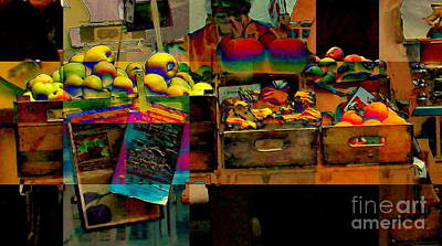 Photograph - Fauvist Farmers Market - Nyc Markets by Miriam Danar