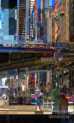 Photograph - Pershing Square And 42nd Street New York City - Vertical by Miriam Danar