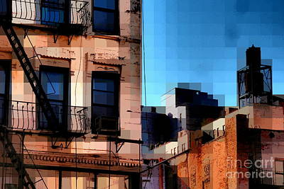 Up On The Roof Art Print by Miriam Danar