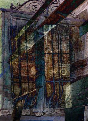 Cubist Shutters Doors And Windows Art Print by Sarah Vernon