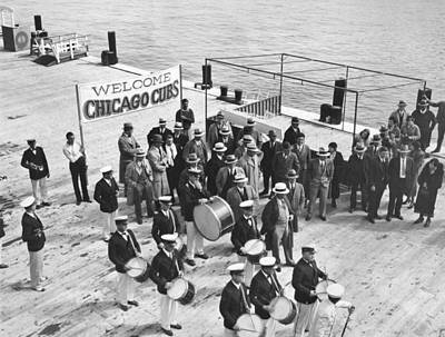 Spring Training Photograph - Cubs Arrive At Catalina Island by Underwood Archives