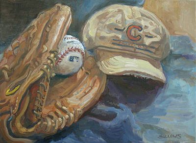 Painting - Cubs Fan by Nora Sallows