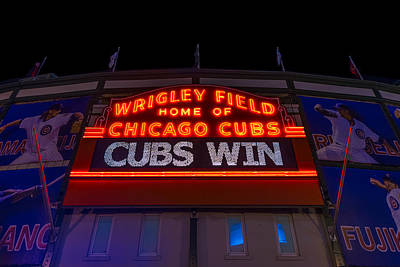 Baseball Royalty-Free and Rights-Managed Images - Cubs Win by Steve Gadomski