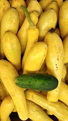 Cucumber Yellow Squash Art Print by Mark Victors