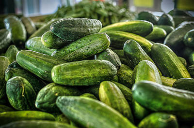 Photograph - Cucumbers by David Morefield