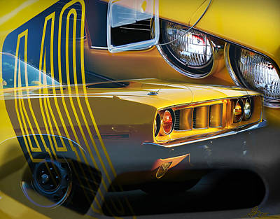 'cuda Collage Art Print by Gordon Dean II