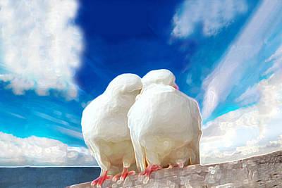 Cuddling Print by Bruce Iorio
