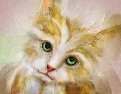 Digital Art - Cuddly Kitten by Mary Almond