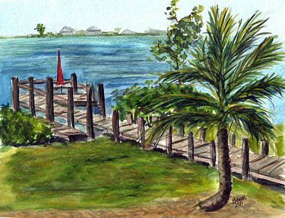 Painting - Cudjoe Dock by Clara Sue Beym