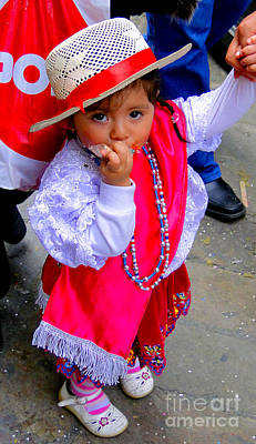 Special Necklace Photograph - Cuenca Kids 242 by Al Bourassa