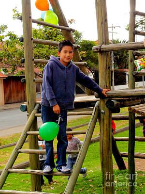 Americas Playground Photograph - Cuenca Kids 269 by Al Bourassa