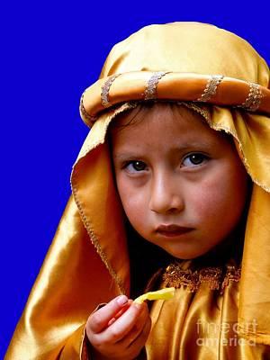 Christmas Eve Photograph - Cuenca Kids 315 by Al Bourassa