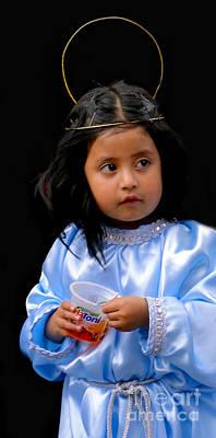 Christmas Eve Photograph - Cuenca Kids 348 by Al Bourassa