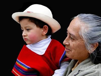Christmas Eve Photograph - Cuenca Kids 381 by Al Bourassa